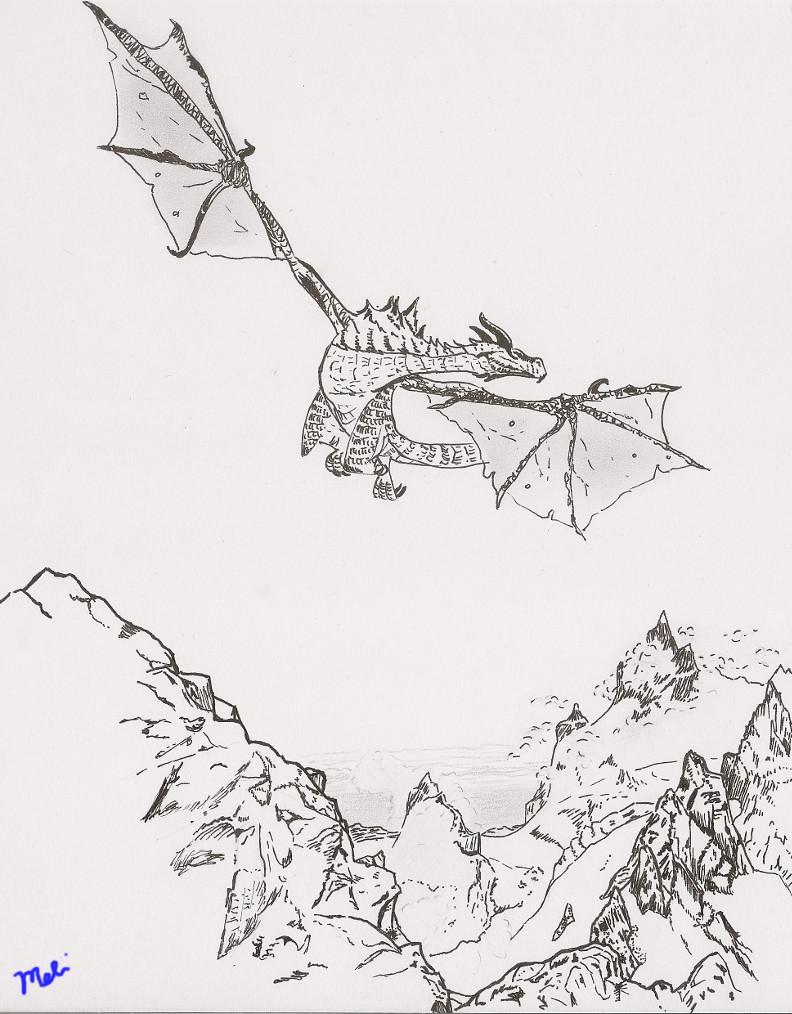 Pen Drawing: Dragon