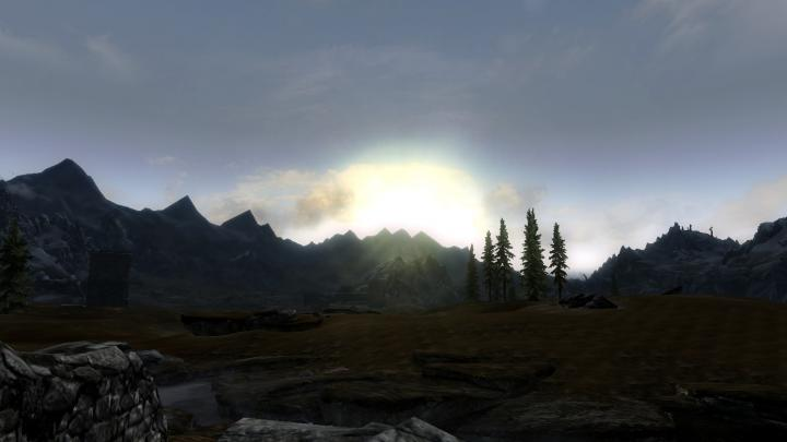 Sunset over Whiterun